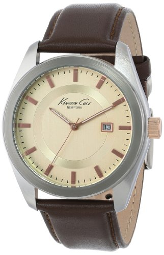 Kenneth Cole New York Men's KC8019 Classic Brown Leather Dress Watch รูปที่ 1