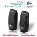 Logitech S-120 2-Piece 2 Channel Multimedia Speaker System w/Headphone Jack (Black) ( Logitech Computer Speaker )