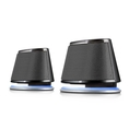 Satechi Dual Sonic Speaker 2.0 Channel Computer Speakers (Black) for Apple Macbook Pro , Air / Asus / Acer / Samsung / Dell/ Toshiba / HP / Sony Vaio and More ( Satechi Computer Speaker )