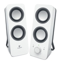 Logitech Multimedia Speakers Z200 with Stereo Sound for Multiple Devices, White ( Logitech Computer Speaker )