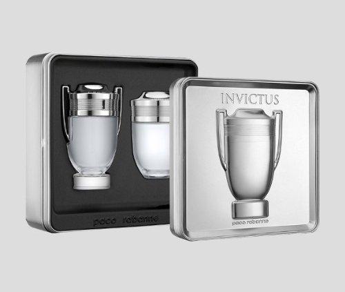 Paco Rabanne Invictus 2 Piece Gift Set for Men (After Shave Lotion Splash Plus Eau de Toilette Spray) ( Men's Fragance Set) รูปที่ 1