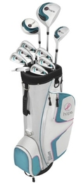 Wilson Women's Hope Complete Golf Package Set, Purple (Right Hand, Graphite D, Steel Hybrid and Irons, Ladies, D, FW, H, 5-PW) ( Wilson Golf )