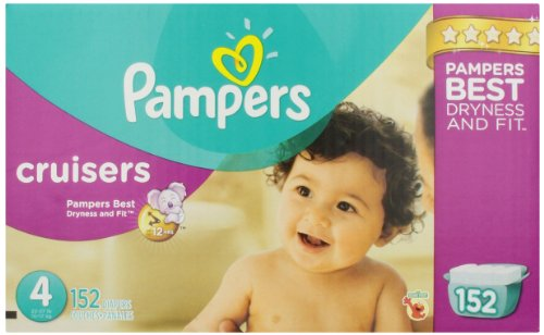 Pampers Cruisers Diapers Size 4 Economy Pack Plus 152 Count ( Baby Diaper Pampers ) รูปที่ 1