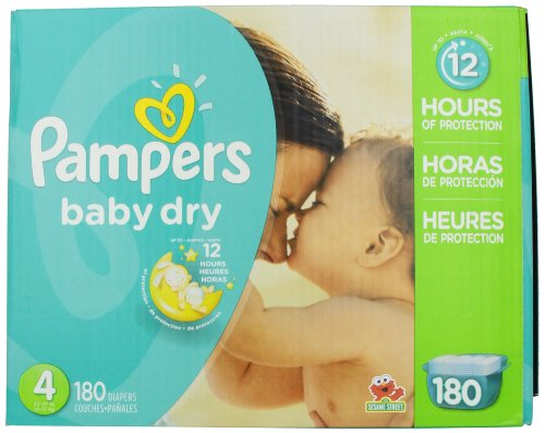 Pampers Baby Dry Diapers Size 4 Economy Pack Plus 180 Count ( Baby Diaper Pampers ) รูปที่ 1