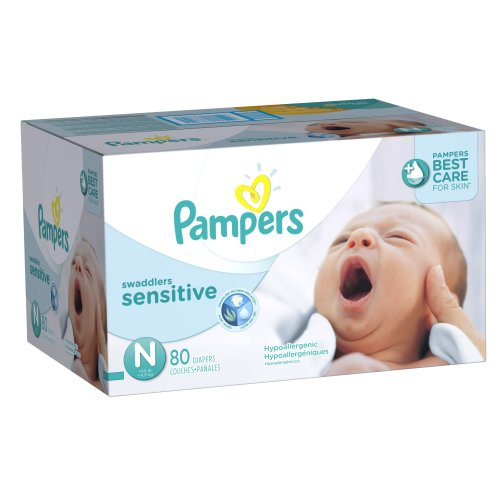 Pampers Swaddlers Sensitive Diapers Size N Super Pack 80 Count ( Baby Diaper Pampers ) รูปที่ 1