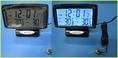 นาฬิกาติดรถยนต์หรือใช้ในบ้าน ตั้งปลุกได้ พร้อมวัดอุณหภูมิทั้งภายในและภายนอก(รถ/บ้าน) เปิดจอไฟเรืองแสงสีฟ้าได้