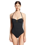 Swimsuit Calvin Klein Women's Solid Shirred Underwire Bandeau Maillot One Piece Swimsuit (Type one Piece)