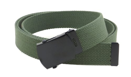 Web Belt with Black Buckle and Tip 56