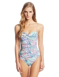 Swimsuit Kenneth Cole New York Women's Pebble To The Metal Faux-Twist One-Piece Swimsuit (Type one Piece)