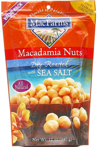 MacFarms Dry Roasted with Sea Salt Macadamia Nuts, 12-Ounce Bag (Pack of 6) รูปที่ 1