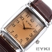 รูปย่อ EYKI Classic Rectangle Dial Brown Leather Band Men's Couple Dress Wrist Watch EKI059 รูปที่5
