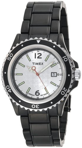 Timex Men's T2M947 Black IP Analog Dress Stainless Steel Bracelet Watch รูปที่ 1