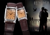 รูปย่อ EYKI Classic Rectangle Dial Brown Leather Band Men's Couple Dress Wrist Watch EKI059 รูปที่2