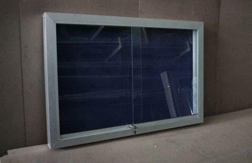 รูปภาพ ติดตั้งป้ายประกาศชานอ้อยตู้กระจก บอร์ดประชาสัมพันธ์120x