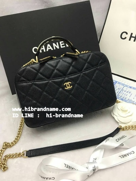 New Chanel Grained  Bowling in Balck Bag (เกรด Top Hi-ene) ขนาด  24 cm รูปที่ 1