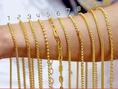 จำหน่ายสร้อยสีทอง งานทองชุบนาโน เคลือบแก้ว งานเหมือนแท้ทุกจุด  สีเหมือนทองแท้100