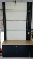 ขายตู้ชั้นวางสินค้า หรือใช้วางของ สภาพใหม่ มีขายึด พร้อม กระจกยาว วาง 3 ชุด ราคาถูก ขนาด ลึก 40 ยาว 110 สูง 220 cm