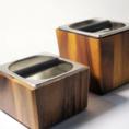 ขาย Knock Box ไม้จริง สำหรับเคาะกากกาแฟ ด้านในเป็นแสตนเลส