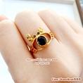 แหวนไพลิน พลอยแท้ ดีไซน์รูปปู แหวนพลอยหลุดจำนำจากร้านทอง