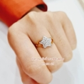 แหวนเพชรสวิส ดีไซน์รูปดาว ไซส์ 54 สินค้าพร้อมส่ง